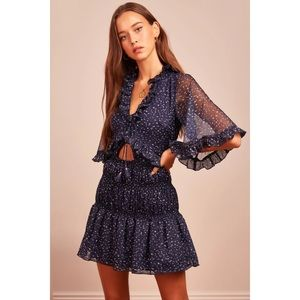 Finders Keepers Locales Mini Dress in Navy Speckle